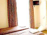 Rooms are airy and have flat-screen LCD TV's