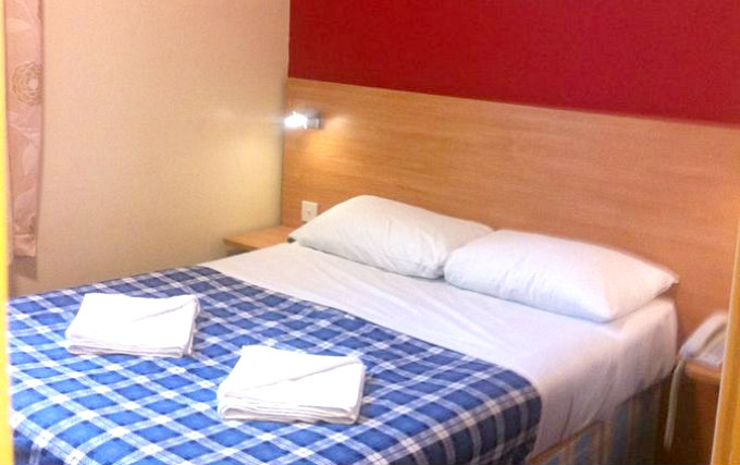 A double room at Colliers Hotel