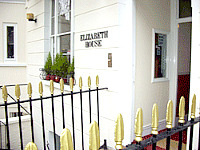 The entrance to Elizabeth House Hotel London