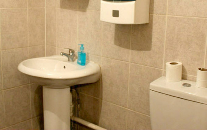 A typical shower system at The Belgravia Hostel
