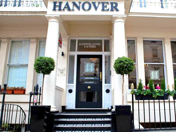 L'esterno dell'Hanover Hotel London