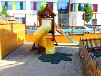 Watch your kids to enjoy the outdoor play area at Bridge Park Hotel