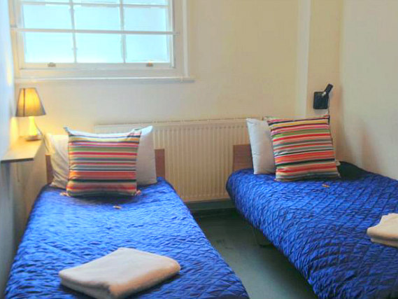 A twin room at Journeys Kings Cross is perfect for two guests