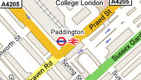 Map of Paddington, London