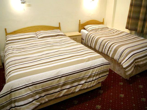 Triple rooms at Stanley House Hotel are the ideal choice for groups of friends or families