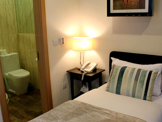 Single rooms at Royal Chulan Hyde Park Hotel provide privacy