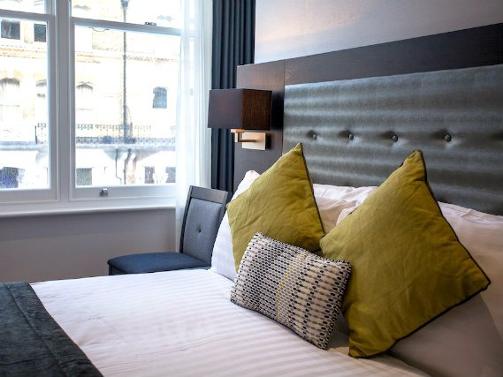 Una stanza matrimoniale dell' The W14 Hotel London