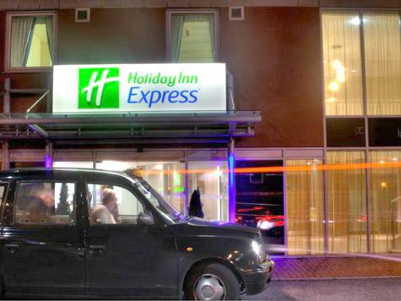 The exterior of Holiday Inn Express London Limehouse