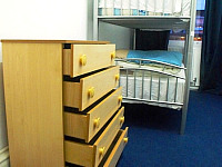 Storage space at Hyde Park Hostel