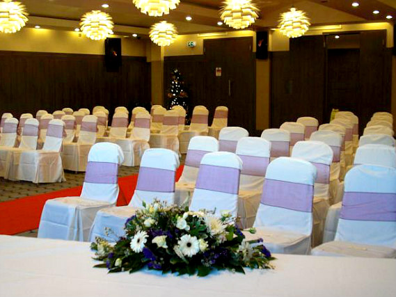 The beautiful wedding room at Holiday Inn Express Park Royal