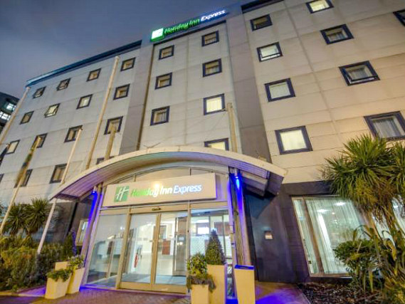 The entrance to Holiday Inn Express Royal Docks
