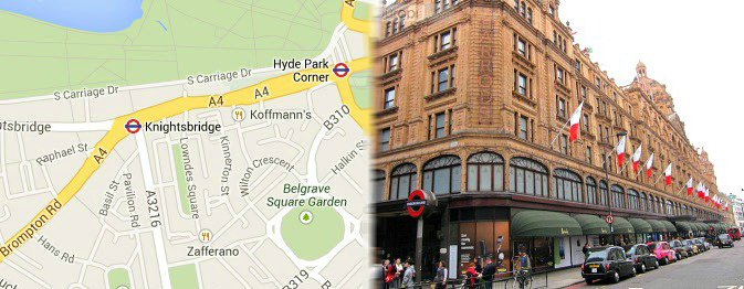 Hotels near Knightsbridge