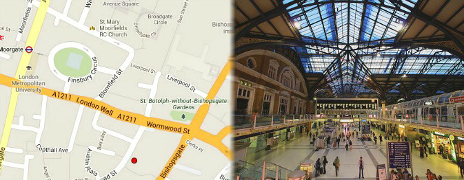 London Tourist Attractions in Liverpool Street