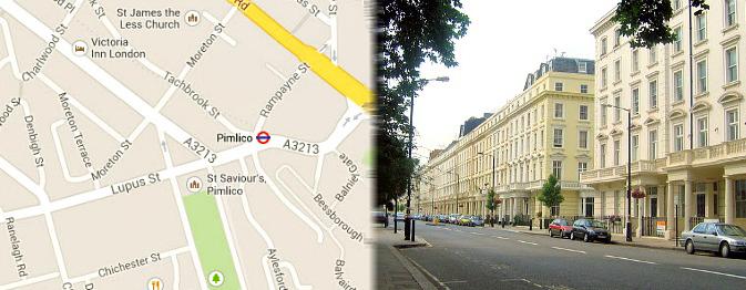 Pimlico London Map.London Tourist Attractions In Pimlico