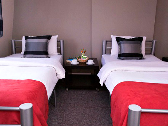 A twin room at Craven Gardens Hotel is perfect for two guests