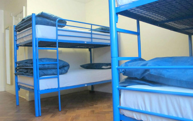 A typical quad room at Northfields Hostel London