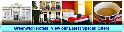 Greenwich Hotels: Book from only £19.50 per person!